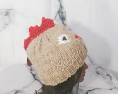 Rooster Beanie, Red and L...