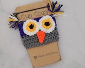 Purple Owl Cup Cozy, Croc...