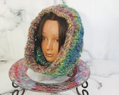 Multicolor Hand Knit Cowl...