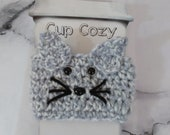 Grey Cat Cup Cozy, Cat Dr...