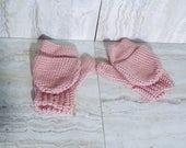 Pink Fingerless Gloves, C...