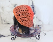 Orange Slouchy Hat, Hand ...