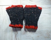 Fingerless Gloves, Black ...