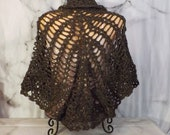 Brown and Gold Crochet Sh...