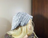 Grey Slouchy Newsboy Hat,...