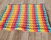 Rainbow Cable Afghan, Han...