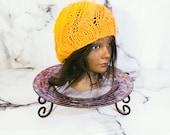 Yellow Swirl Beanie, Wint...