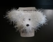 White Dog Coffee Cozy, Cr...