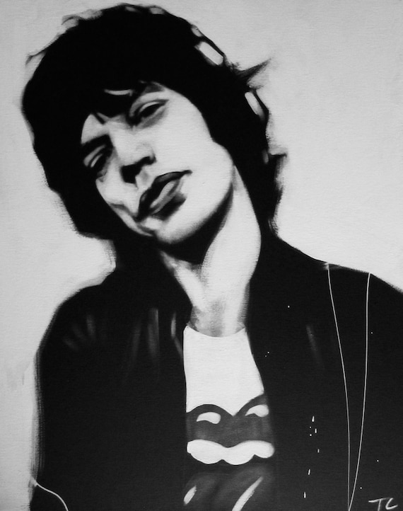 Image result for mick jagger black and white photo