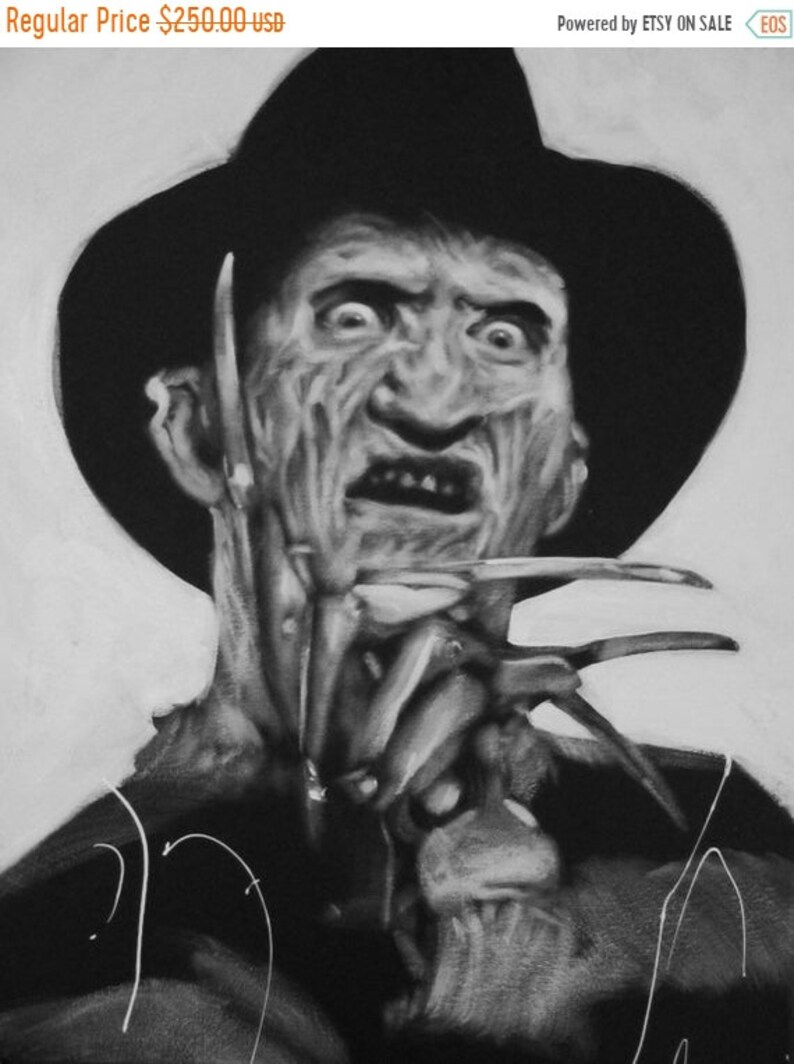 SALE Freddy Krueger Original 20x16 Acrylic image 0