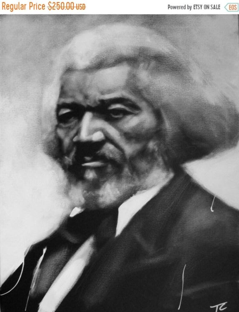 SALE Frederick Douglas United States Black & White Art image 0