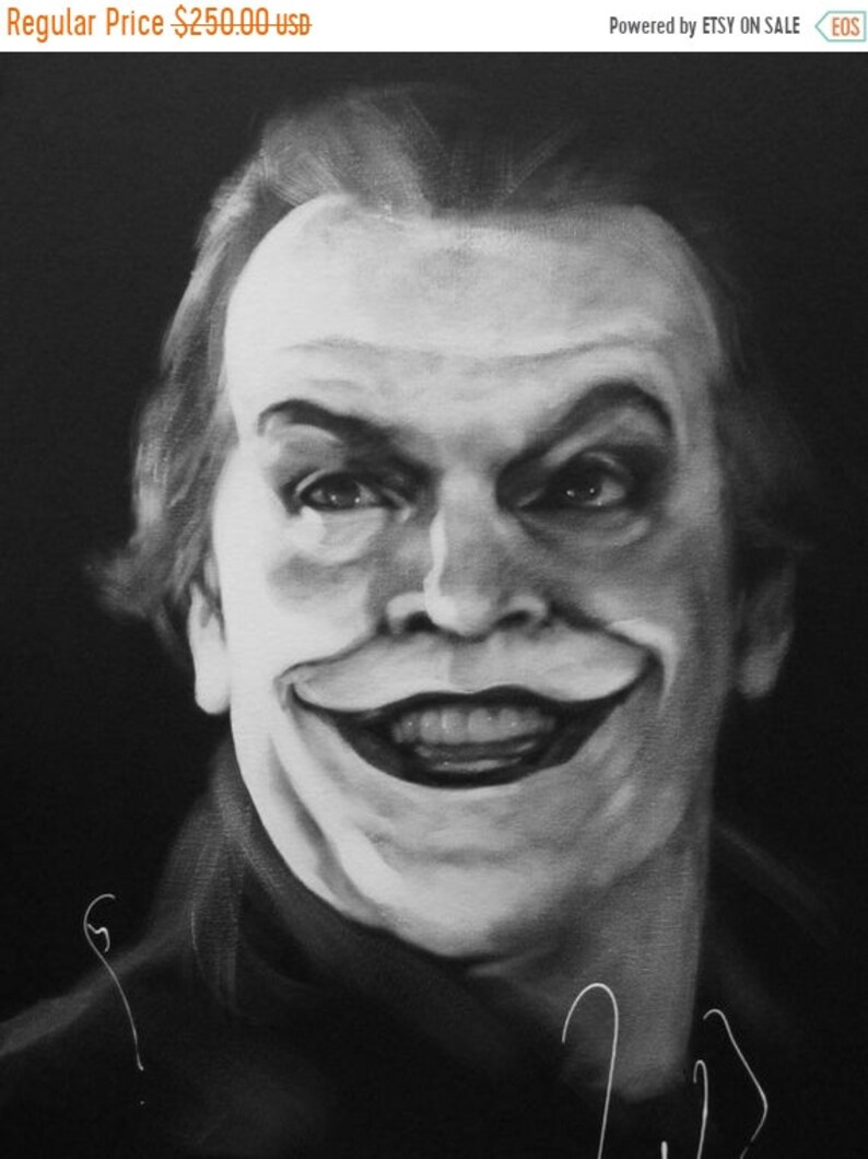 SALE The Joker Jack Nicholson Original 20x16 image 0