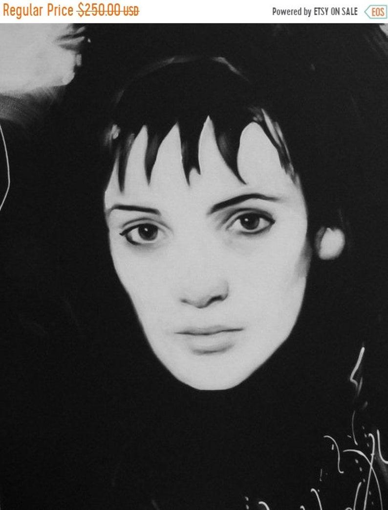 SALE Lydia Deetz Original 20x16 Acrylic Painting image 0
