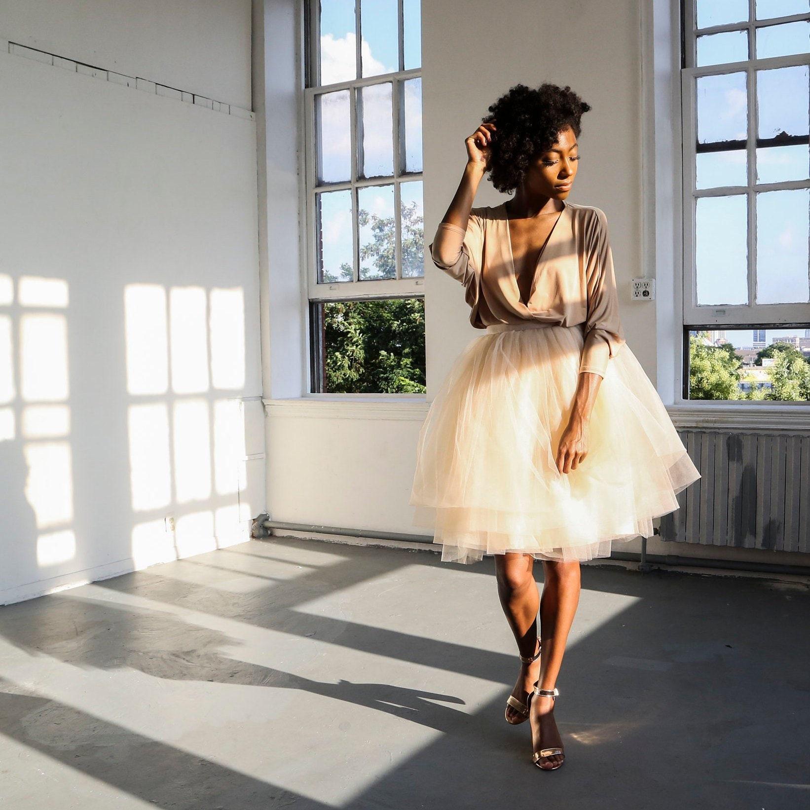 584a946c37 Layered Tutu Skirt champagne tulle skirt adult tutu skirt | Etsy