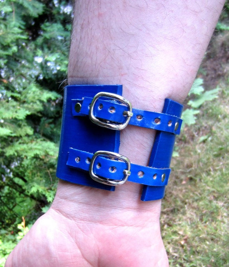 Poseidon Trident Leather Cuff, Percy Jackson, Leather Bracelet, Blue  Leather Cuff, Trident Cuff, Made to Order