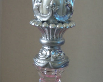 Crystal Finial - Glass Finial -Victorian glass finial