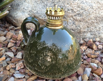 Stoneware Oil Lamp, Kerosene Lamp, Pottery Lamp, Vase, Pottery Oil Lamp, Mosquito Oil Lamp, Citronella Oil Lamp, Handmade Oil Lamp, Oil Lamp