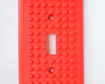 3D Printed Brick Builder Style Light Switch Cover - Single, Double or Triple switch - Lego inspired