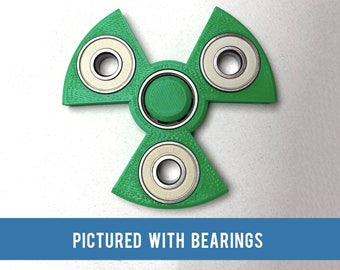 Radioactive Symbol Fidget Spinner - 3D printed toy