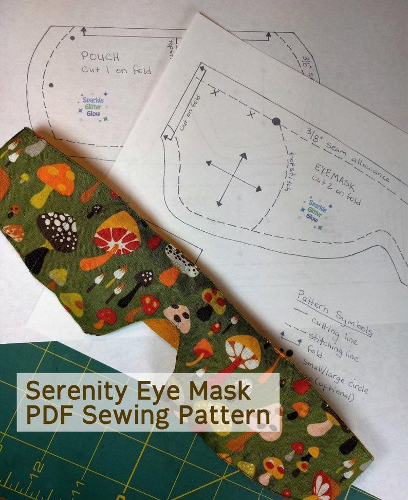 Serenity Eye Mask  PDF Pattern image 0