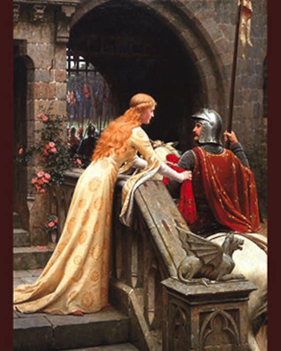 Medieval Art Godspeed Painting Edmund Leighton Princess