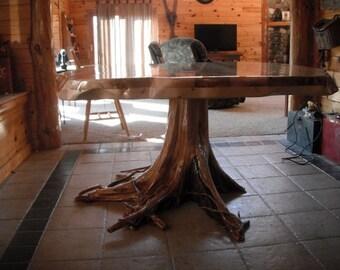 Cedar Stump Dining Table
