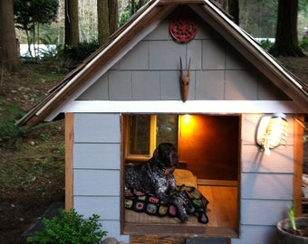 Extra Large Dog House made with 100% reclaimed materials