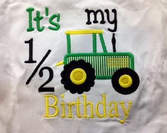 1/2 birthday onsie or tshirt