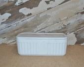 Hocking Vitrock White Refrigerator Dish Milk Glass Covered Dish Storage