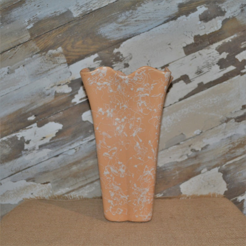 Shawnee Pink Cameo Ware Vase ~ Splatter Pottery