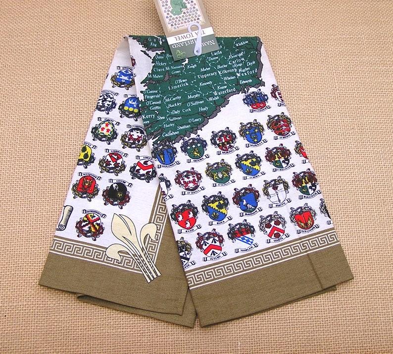 Vintage Irish Tea Towel, Names of Ireland, St Patrick's Day Gift