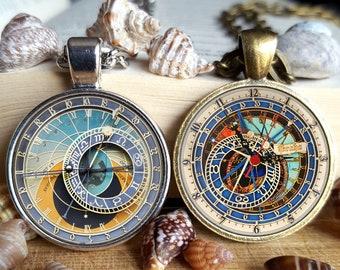 Astronomical Clock necklace Astronomical Clock Pendant Prague clock necklace Prague clock pendant Ulm Zodiac Clock NOT A REAL CLOCK (25)