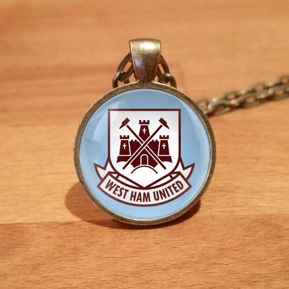 a985e2e82ed West Ham necklace West Ham United necklace Antique Bronze