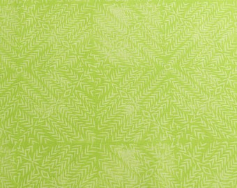 Light lime green cotton fabric, Jasmine by Valoli Wells, fresh green fabric, Chartreuse green fabric