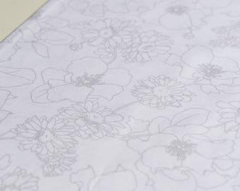 Quilting cotton fabric in white, Wisper series from Robert Kaufman