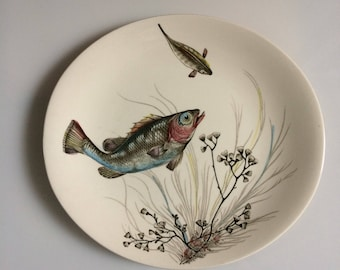 Johnson Brothers oval hand engraved fish plate, nr 2.