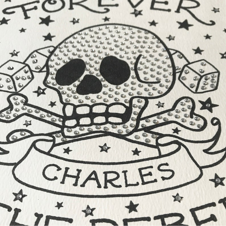 Forever in Love Tattoo embellished print