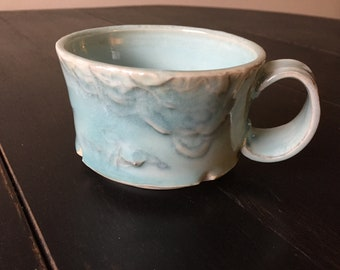 Porcelain Aqua Cloud Mug