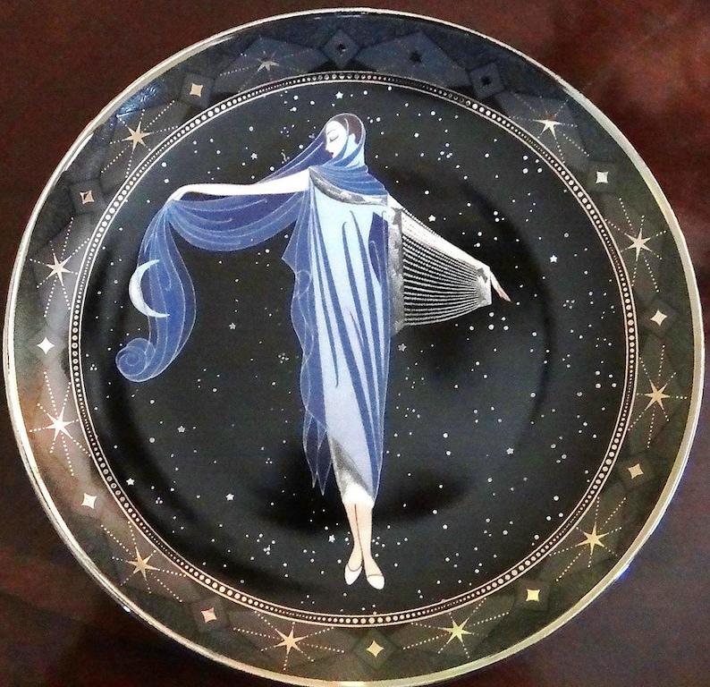 ROYAL DOULTON Moonlight Decorative Plate Franklin Mint Limited Edition Vintage Art Deco Porcelain Plate