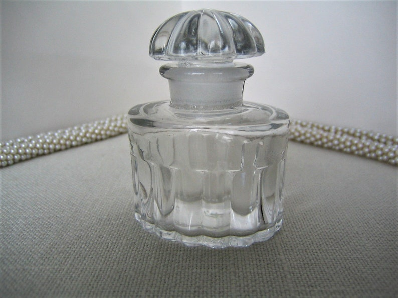 All Vintage 1947 Glass Bottle Dix Clear Collectible Discontinued Le Perfume Balenciaga Stopper WDI29EHY