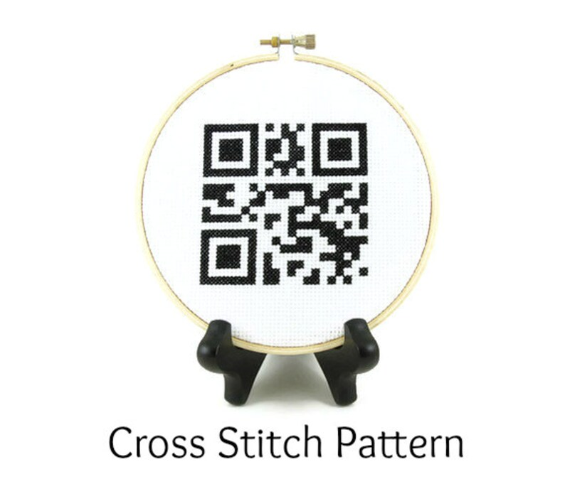 Home Sweet Home QR Code Cross Stitch Pattern image 0