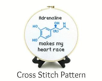 Adrenaline Molecule Cross Stitch Pattern