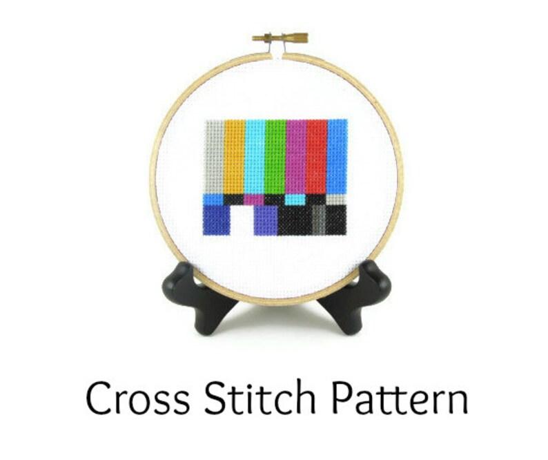 Television Test Pattern Screen Cross Stitch Pattern image 0