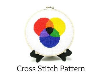 Color Theory Cross Stitch Pattern
