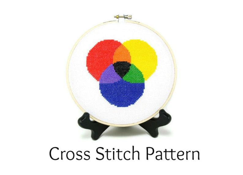 Color Theory Cross Stitch Pattern image 0