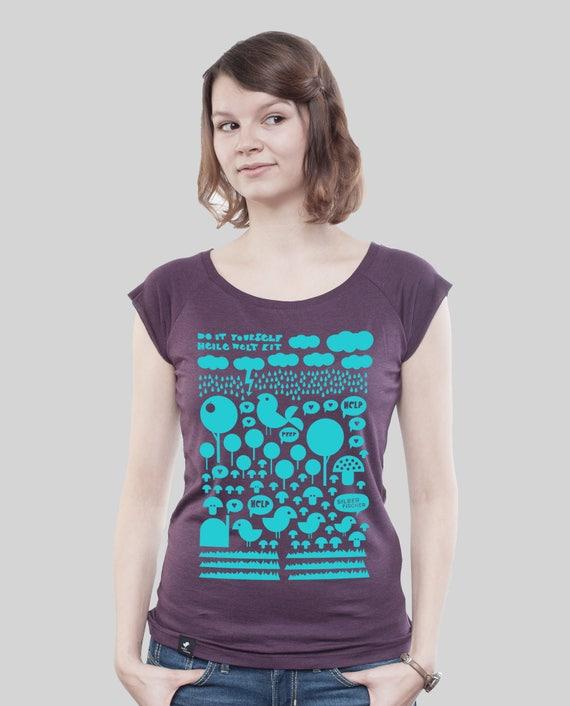d0ffd7f1f3 Bamboo Shirt Women Aubergine Perfect World