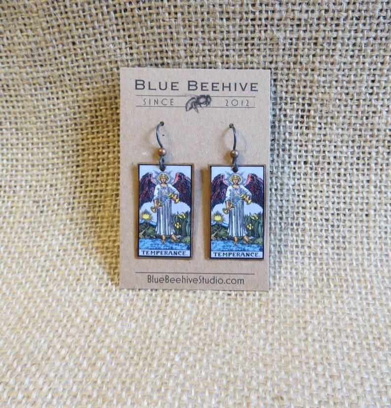 EBX16-14a: Tarot Earrings Temperance XIV Rider-Waite image 0
