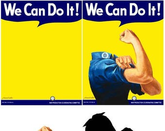 Rosie the Riveter Poster Components