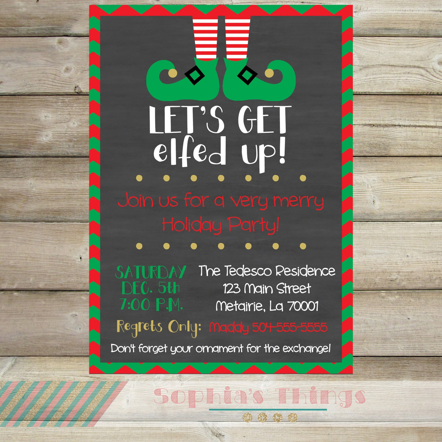 Let's Get Elfed Up Christmas Party Invitation Holiday | Etsy