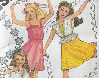 UNCUT Girl s Dress and Jacket Sewing Pattern Simplicity 9938 Size 10 Party  Dress dcfb882fe